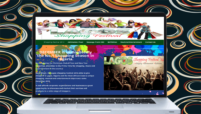 Lagos Shopping Festival Website