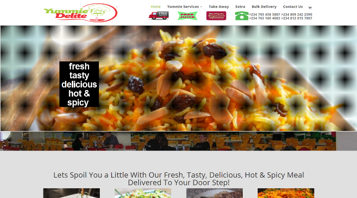 Yummie Delite Website Design Project