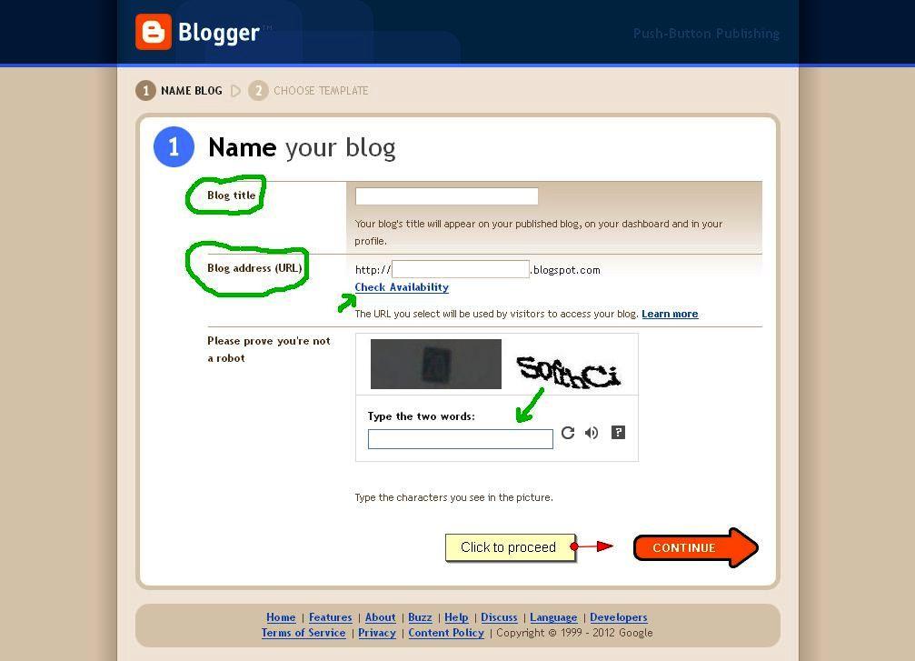 Teen blog home features