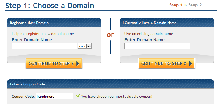registering domain name