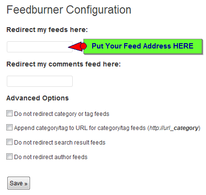 feed redirect