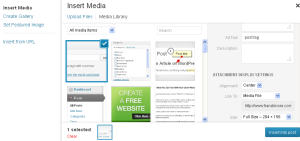 WordPress image upload