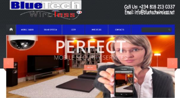 Blue Tech Wireless Website
