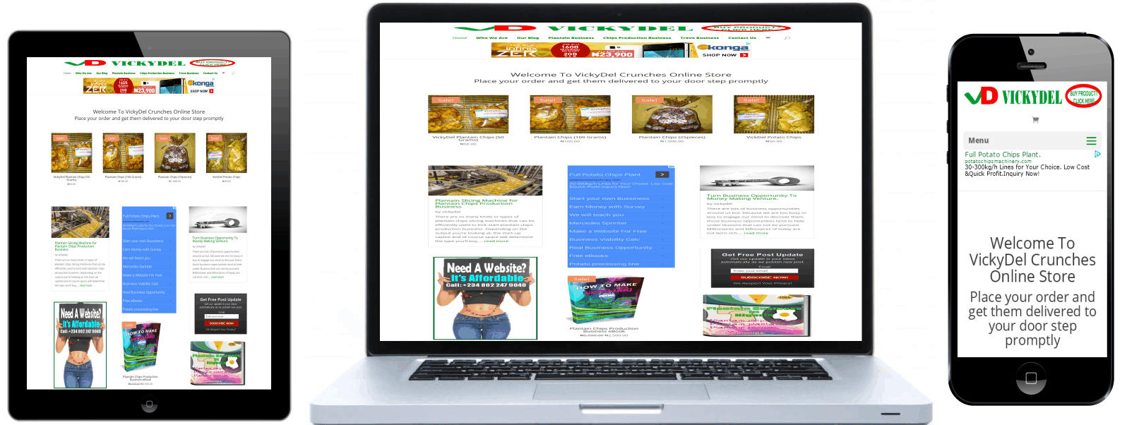 Plantain chips Business Responsive