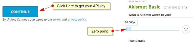 Askimet API key